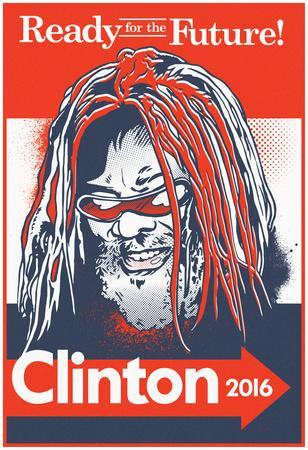G. Clinton 2016 (Red, White & Blue Signboard)
