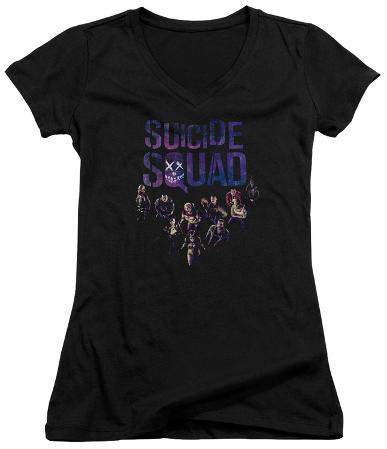 Juniors: Suicide Squad- Class Photo V-Neck