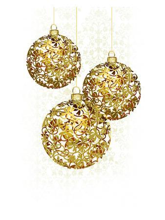 Lace Golden Ornaments