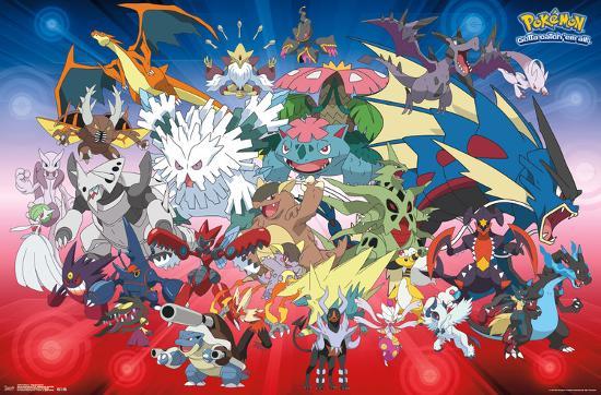 Pokemon mega evolutions prints at - How to mega evolve a pokemon ...
