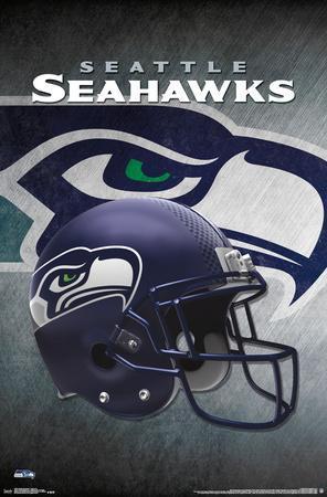 Nfl Seattle Seahawks Helmet Logo Posters At Allposters Com