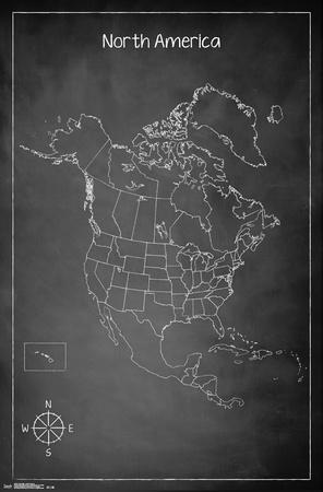North America Chalk Map