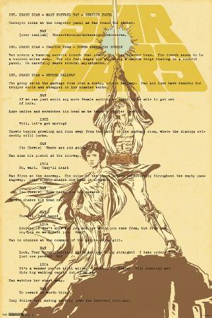 Star Wars- Luke & Leia On Script