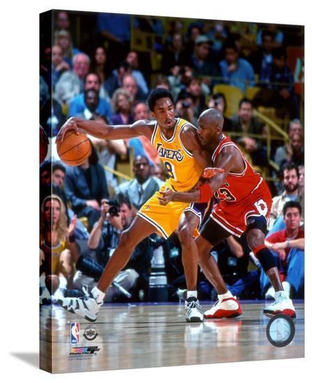 Michael Jordan & Kobe Bryant 1998 Action Stretched Canvas