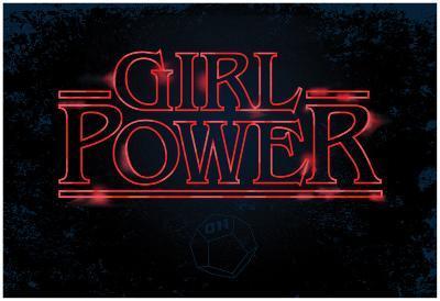 Girl Power (Horizontal Neon Glow)