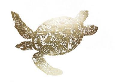 Gold Foil Sea Turtle II