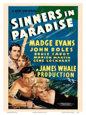 Sinners in Paradise - Starring Madge Evans, John Boles - Universal Pictures