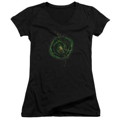 Juniors: Alien- Xenomorph Spiral V-Neck
