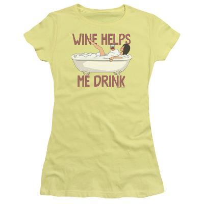 Juniors: Bobs Burgers- Wine Helps Me Drink