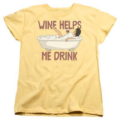 Womens: Bobs Burgers- Wine Helps Me Drink