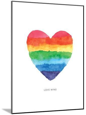 Love Wins Watercolor Rainbow Heart