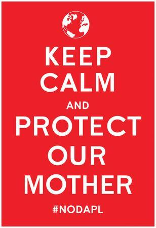 Keep Calm Protect Our Mother- Red