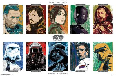 Star Wars: Rogue One- Character Grid