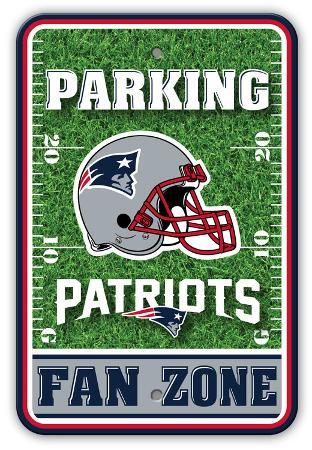 NFL New England Patriots Field Zone Parking Sign