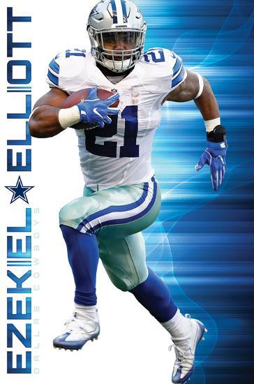Nfl Dallas Cowboys Ezekiel Elliott 2016 Print At