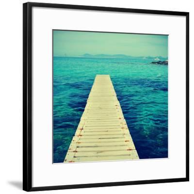 Boardwalk in Ses Illetes Beach in Formentera, Balearic Islands