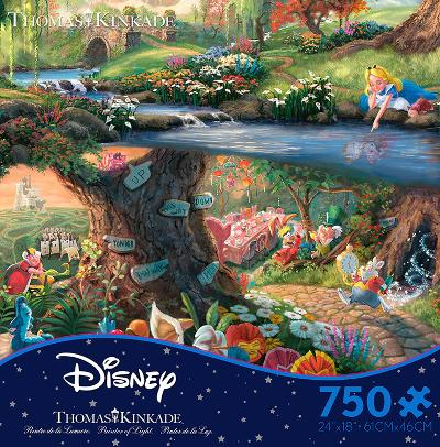 Thomas Kinkade Disney Dreams - Alice in Wonderland 750 Piece Jigsaw Puzzle