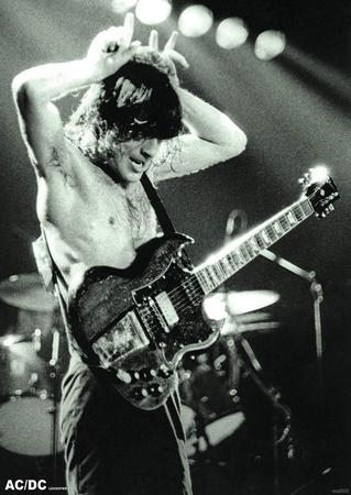 AC/DC- Angus Young at Leicester Demontfort Hall, 1979