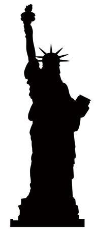 Statue of Liberty Silhouette