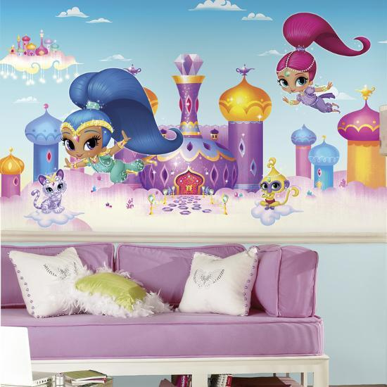 Shimmer And Shine Xl Chair Rail Prepasted Mural