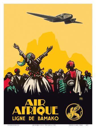 Air Afrique Airline - West Africa - Bamako Airlines (Ligne de Bamako)