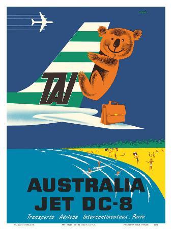 Australia - TAI (Transports Aérien Internationaux) - Douglas Jet DC-8 - Koala Bear