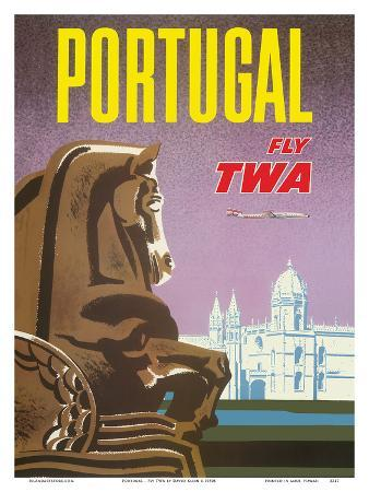 Portugal - Fly TWA (Trans World Airlines) - Jerónimos Monastery Lisbon
