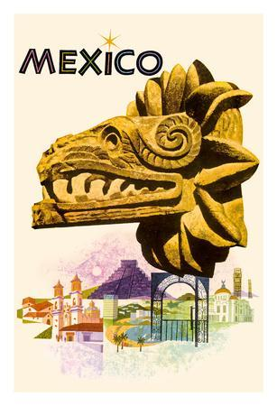Mexico - Kukulkan, Feathered Serpent - Mayan Snake Diety