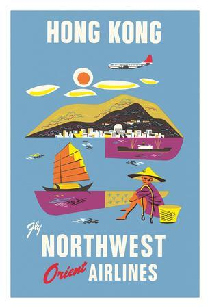 Hong Kong - Fragrant Harbour - Northwest Orient Airlines