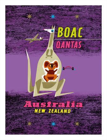 Australia - New Zealand - BOAC (British Overseas Airways Corporation)