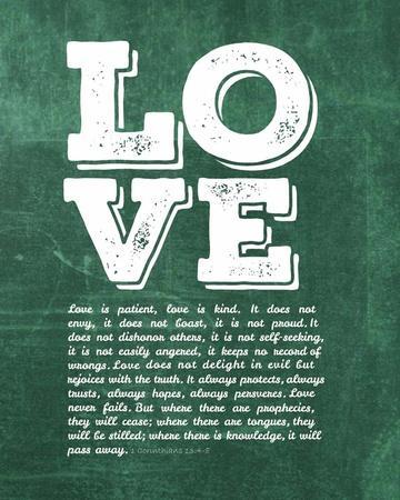 Corinthians 13:4-8 Love is Patient - Green