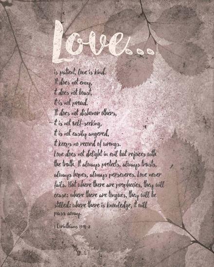 Corinthians 13:4-8 Love Is Patient