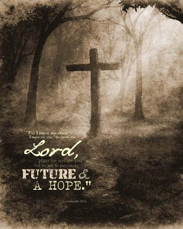 Jeremiah 29:11 For I know the Plans I have for You (Sepia Cross)