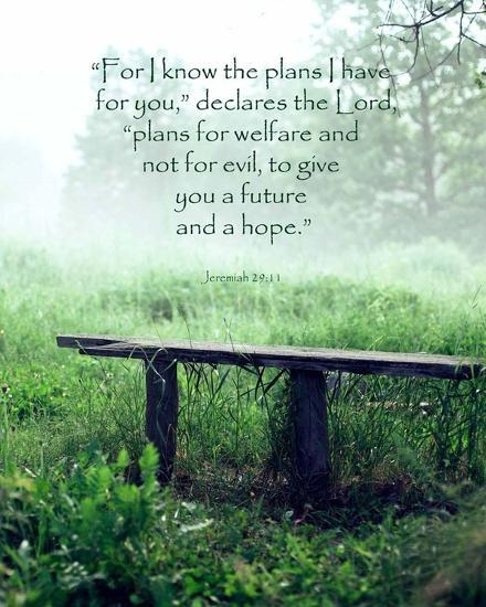 Jeremiah 2911 For I Know The Plans I Have For You Wooden Bench