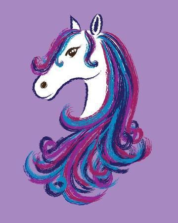 Horse - Purple