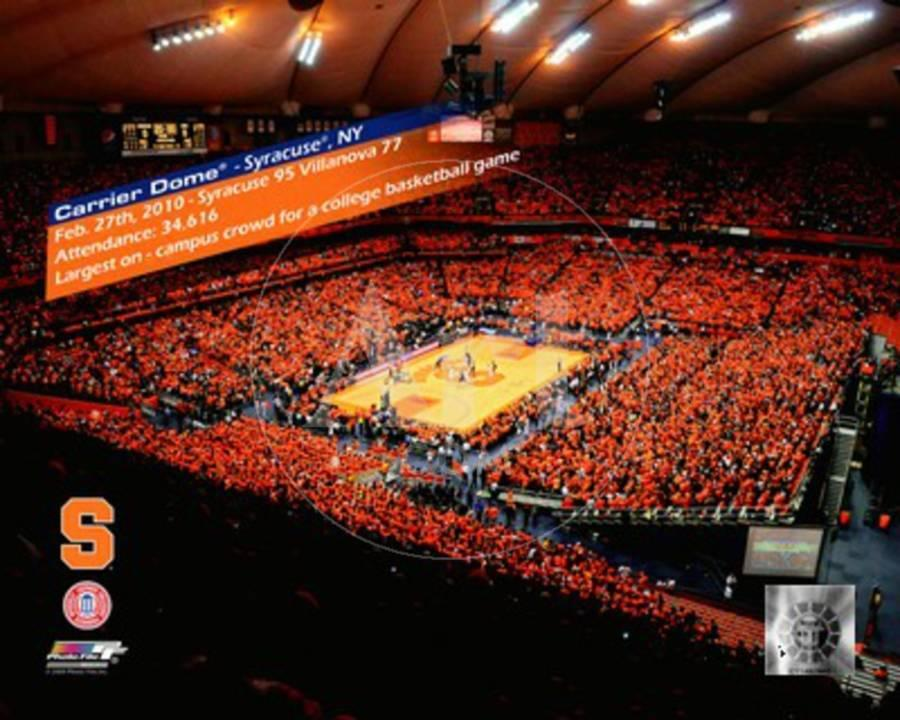 The Carrier Dome Record Breaking Crowd Syracuse Vs Villanova With Overlay