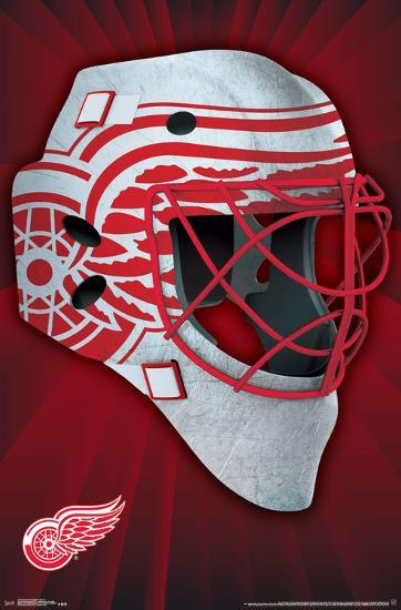 4bd7bf5f4b5 NHL  Detroit Red Wings- Logo Mask 16 Poster at AllPosters.com