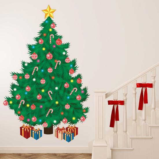 christmas tree wall decal at allposters