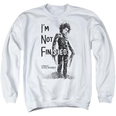Crewneck Sweatshirt: Edward Scissorhands- Not Finished
