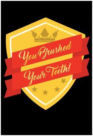You Brushed Your Teeth Emblem
