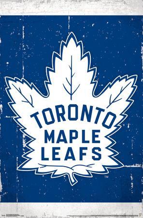 Nhl Toronto Maple Leafs Retro Distressed Logo Poster Allposters Com