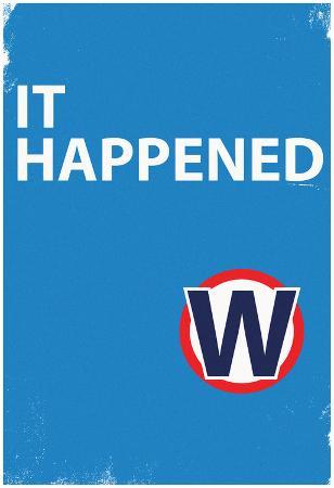 It Happened Blue Sign