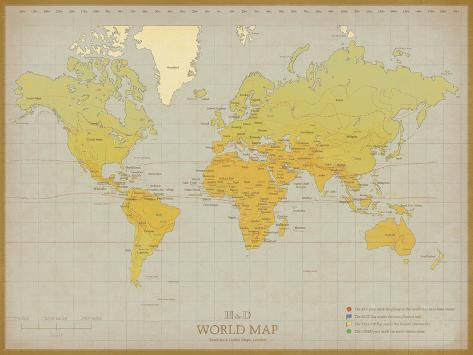 photograph relating to Vintage World Map Printable named Basic Environment Map