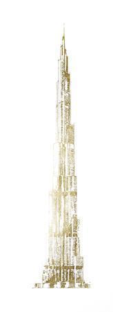 Gold Foil Burj Khalifa