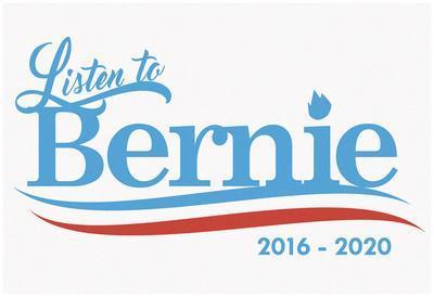 Listen To Bernie, 2016-2020 - White