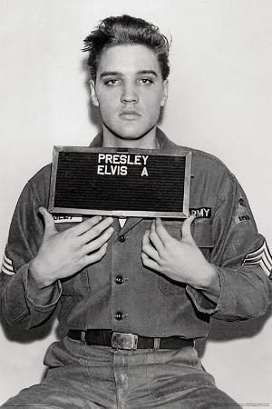 Elvis Presley- 1958 Enlistment Photo