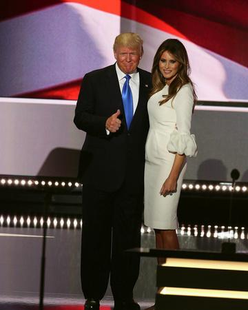 Presidential candidate Donald Trump and his wife, Melania Trump, during RNC July 18, 2016