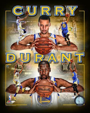 Stephen Curry & Kevin Durant 2016 Portrait Plus