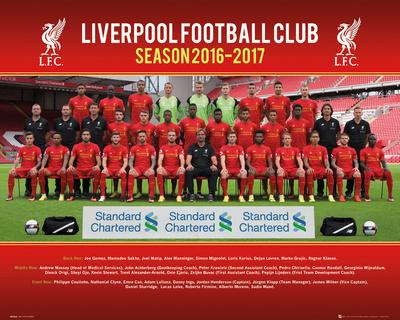 Liverpool FC- Team Photo 16/17