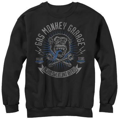 Crewneck Sweatshirt: Gas Monkey- Blood, Sweat And Beers
